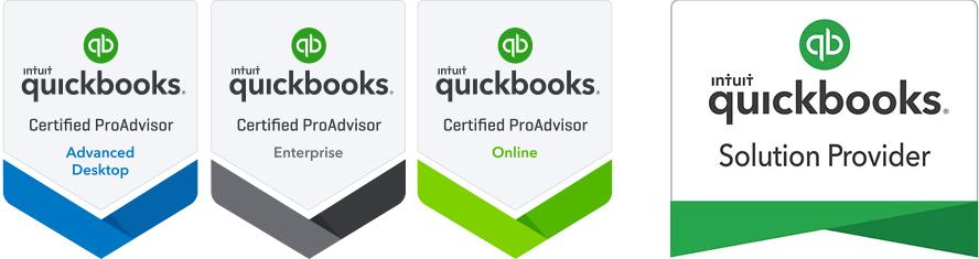 Quickbooks Certified ProAdvisor badges
